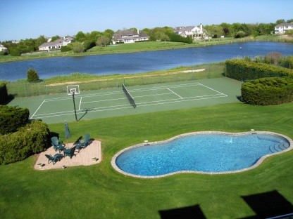 heated pool and tennis complete the picture!