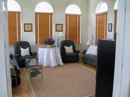 gather in the den for private conversations a specail room just for you and your good book or a great movie!