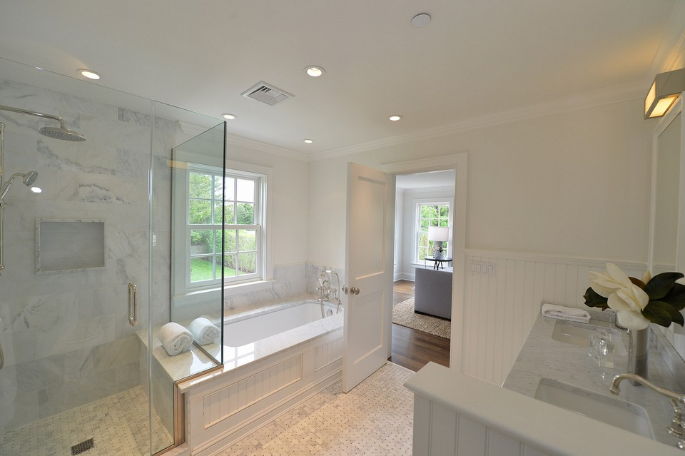 master bath a shower and fabulous air vented jacuzzi tub